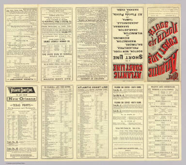 (Text Page to) The Atlantic Coast Line north and south ... C.G. Crawford, Printer and Stationer, 49 & 51 Park Place N.Y. September 7, 1885.