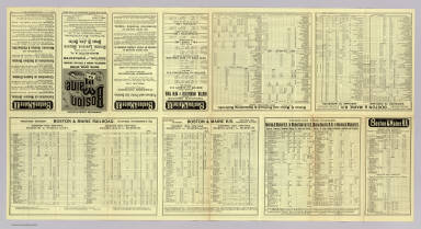 (Text Page to) Boston & Maine Railroad. Through time-tables. Western, Eastern, Northern and Worcester, Nashua & Portland divisions. Boston and Worcester to Manchester, N.H. ... Winter arrangement - Oct. 24, 1887 ... 4-2-88. Rand Avery Supply Co. Boston.