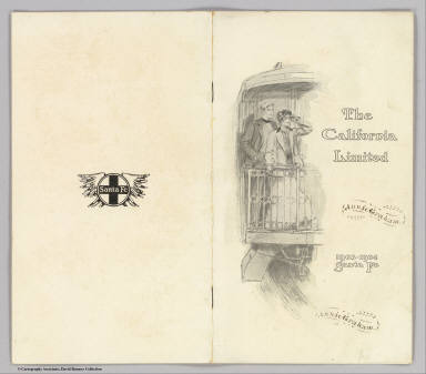 (Covers to) The California Limited. Pictures by C.D. Williams. 1903-1904 Santa Fe. Copyright, 1903, by Geo. T. Nicholson.