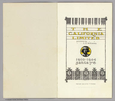 Title Page: California Limited. / Atchison, Topeka, and Santa Fe Railroad Company / 1903