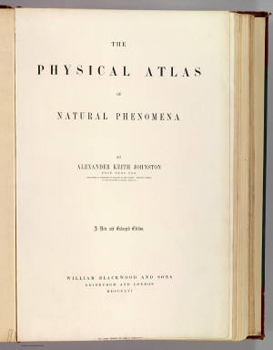 Title Page: Physical atlas of natural phenomena. / Johnston, Alexander Keith, 1804-1871 / 1856