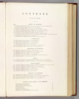Contents: Physical atlas of natural phenomena. / Johnston, Alexander Keith, 1804-1871 / 1856