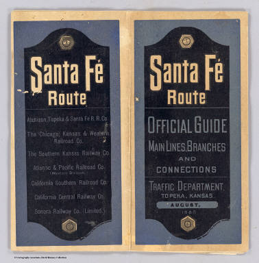 Cover: Sante Fe Route. / Atchison, Topeka, and Santa Fe Railroad Company / 1888