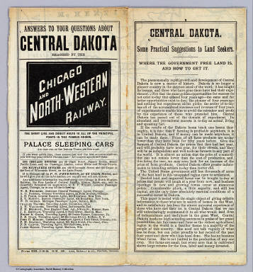Cover: Central Dakota. / Chicago and North Western Railway Company / 1888