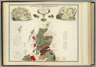 Geological, palaeontological map British Islands. / Johnston, Alexander Keith, 1804-1871; Forbes, Edward, 1815-1854 / 1854