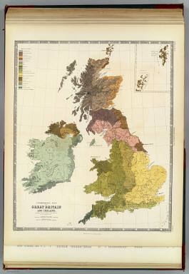 Ethnographic map of Great Britain and Ireland, according to Dr. Gustaf Kombst ... by A.K. Johnston, F.R.G.S. Engraved & printed in colours by W. & A.K. Johnston, Edinburgh. William Blackwood & Sons, Edinburgh & London. (1856)