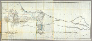 Map of a Reconnoissance between Fort Leavenworth ... and the Great Salt Lake ... / Stansbury, Howard; Gunnison, J.W.; Preuss, C. / 1852