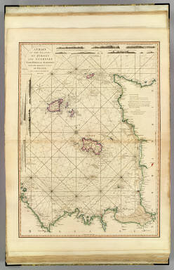 A chart of the islands of Jersey and Guernsey, Sark, Herm and Alderney, with the adjacent coast of France. By L.S. De la Rochette. MDCCLXXXI. London: engraved & published as the Act directs Jany. 1st, 1781 by W. Faden, successor to the late T. Jefferys, Geogr. to the King, Charing Cross.