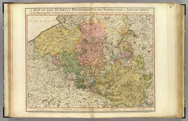 A map of the Austrian possessions in the Netherlands or Low Countries, with the principalities of Liege and Stavelo, &ca. Reduced from the trigonometric survey made by order of H.R.H. the Prince Charles of Lorraine. London, published by William Faden, Geographer to His Majesty, Jany. 1st, 1789.