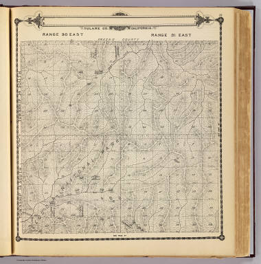 Township 15 South, Township 14 South, Range 30 East, Range 31 East, Tulare Co., California. (Compiled, drawn and published by Thos. H. Thompson, Tulare, Cal., 1892)