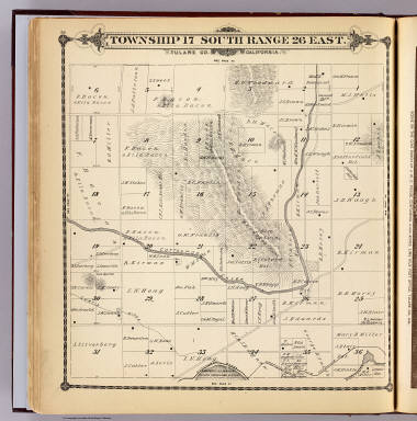 Township 17 South, Range 26 East, Tulare Co., California. (Compiled, drawn and published by Thos. H. Thompson, Tulare, Cal. 1892)