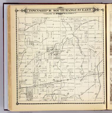 Township 18 South, Range 22 East, Tulare Co., California. (Compiled, drawn and published by Thos. H. Thompson, Tulare, Cal. 1892)