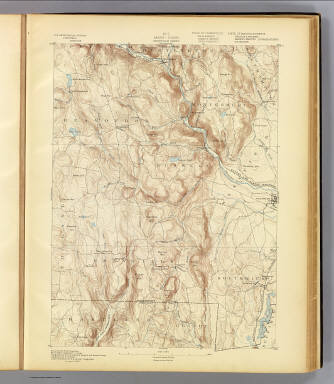 No. 3. Mass.-Conn. Granville sheet. U.S. Geological Survey, J.W. Powell, Director. State of Connecticut ... State of Massachusetts ... commissioners. Henry Gannett, Chief Geographer. Marcus Baker, Geographer in charge. Triangulation by the U.S. Coast and Geodetic and Borden surveys. Topography by C.C. Bassett, under the direction of W.D. Johnson, topographer. Surveyed in 1886-7. (1893)