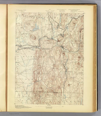 No. 5. Mass.-Conn. Palmer sheet. U.S. Geological Survey, J.W. Powell, Director. State of Connecticut ... State of Massachusetts ... commissioners. Henry Gannett, Chief Geographer. Marcus Baker, Geographer in charge. Triangulation by the U.S. Coast and Geodetic Survey. Topography by C. Arrick, D.J. Howell, W. Kramer and R. Robertson under the direction of S.H. Bodfish and E.W.F. Natter. Surveyed in 1886-7. (1893)