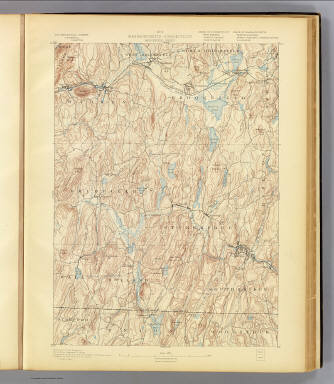 No. 6. Massachusetts-Connecticut. Brookfield sheet. U.S. Geological Survey, J.W. Powell, Director. State of Connecticut ... State of Massachusetts ... commissioners. Henry Gannett, Chief Geographer. Marcus Baker, Geographer in charge. Triangulation by the U.S. Coast and Geodetic and Borden surveys. Topography by E.W.F. Natter and W.J. Grambs. Surveyed in 1886-7. (1893)