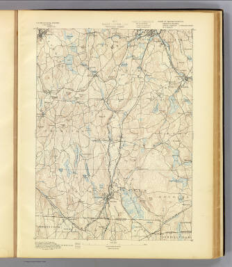 No. 7. Mass.-Conn.-R.I. Webster sheet. U.S. Geological Survey, J.W. Powell, Director. State of Connecticut ... State of Massachusetts ... commissioners. Henry Gannett, Chief Geographer. Marcus Baker, Geographer in charge. Triangulation by the U.S. Coast and Geodetic and Borden surveys. Topography by C.C. Bassett and R.H. Phillips under direction of W.D. Johnson, topographer. Surveyed in 1886-7. (1893)