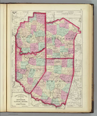 Jefferson, Clarion, Indiana, Armstrong counties. / (Walling, H. F.; Gray, Ormando Willis) / 1872