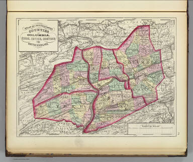 Columbia, Union, Snyder, Montour, Northumberland counties. / (Walling, H. F.; Gray, Ormando Willis) / 1872