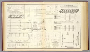 Drawings boats, bridges, wagons, projectiles. / United States. War Department / 1895