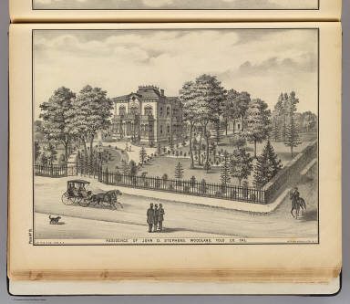 Stephens res., Woodland. / Galloway, W. T. (William T.); De Pue & Company / 1879