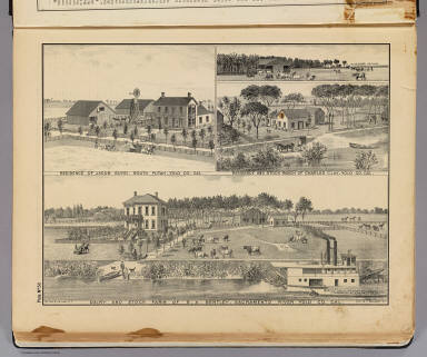 Dairy and stock farm of S.A. Bentley, Sacramento River, Yolo Co., Cal. (with) Residence of Jacob Guysi, South Putah, Yolo, Yolo Co., Cal. (with) Residence and stock ranch of Charles Clay, Yolo Co., Cal. De Pue & Co. Pub., S.F. Lith. W.T. Galloway, S.F. (1879)
