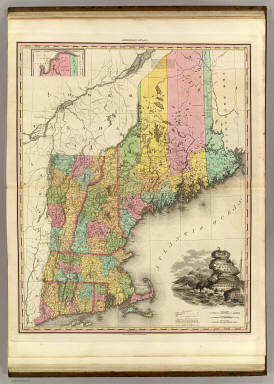 Map Of The States Of Maine New Hampshire Vermont Massachusetts