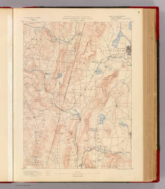 Massachusetts-New York. Pittsfield sheet. Preliminary edition subject to corrections. U.S. Geological Survey, J.W. Powell, Director. State of Massachusetts ... commissioners. Henry Gannett, Chief Geographer. Marcus Baker, geographer in charge. Triangulation by the U.S. Coast and Geodetic Survey and C.C. Bassett. Topography by by E.W.F. Natter and C.C. Bassett. Surveyed in 1885-8. Forbes Co., Boston & N.Y. (1890)