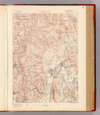 10. Greenfield sheet. / Geological Survey (U.S.); Massachusetts. Topographical Survey Commission / 1890