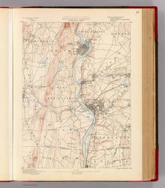 Massachusetts-Connecticut. Springfield sheet. Preliminary edition subject to corrections. U.S. Geological Survey, J.W. Powell, Director. State of Massachusetts ... commissioners. Henry Gannett, Chief Geographer. Marcus Baker, geographer in charge. Triangulation by the U.S. Coast and Geodetic and Borden surveys. Topography by C.C. Bassett and C. Arrick, under direction of W.D. Johnson and S.H. Bodfish. Surveyed in 1886 and 1887. Forbes Co., Boston & N.Y. (1890)