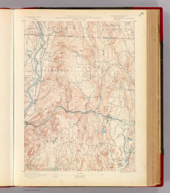 Massachusetts-New Hampshire-Vermont. Warwick sheet. Preliminary edition subject to corrections. U.S. Geological Survey, J.W. Powell, Director. State of Massachusetts ... commissioners. Henry Gannett, Chief Geographer. Marcus Baker, geographer in charge. Triangulation by the U.S. Coast and Geodetic and Borden surveys. Topography by R.D. Cummin and Laurence Thompson under direction of W.D. Johnson. Surveyed in 1887. Forbes Co., Boston & N.Y. (1890)
