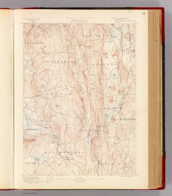 Massachusetts. Belchertown sheet. Preliminary edition subject to corrections. U.S. Geological Survey, J.W. Powell, Director. State of Massachusetts ... commissioners. Henry Gannett, Chief Geographer. Marcus Baker, geographer in charge. Triangulation by the U.S. Coast and Geodetic and Borden surveys. Topography by Laurence Thompson under direction of W.D. Johnson and by Anton Karl. Surveyed in 1885 and 1887. Forbes Co., Boston & N.Y. (1890)