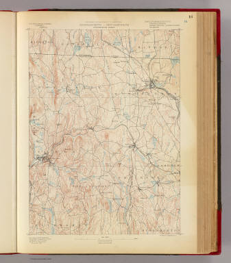 16. Winchendon sheet. / Geological Survey (U.S.); Massachusetts. Topographical Survey Commission / 1890