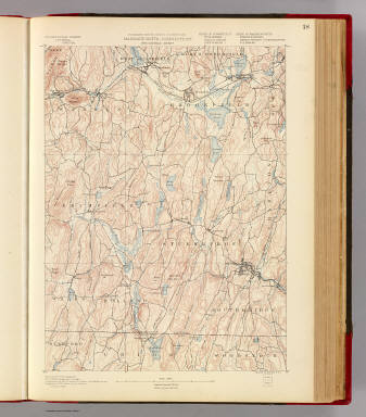 Massachusetts-Connecticut. Brookfield sheet. Preliminary edition subject to corrections. U.S. Geological Survey, J.W. Powell, Director. State of Connecticut ... State of Massachusetts ... commissioners. Henry Gannett, Chief Geographer. Marcus Baker, geographer in charge. Triangulation by the U.S. Coast and Geodetic and Borden surveys. Topography by E.W.F. Natter and W.J. Grambs. Surveyed in 1886-7. Forbes Co., Boston & N.Y. (1890)