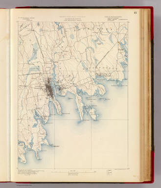 Massachusetts. New Bedford sheet. Preliminary edition subject to corrections. U.S. Geological Survey, J.W. Powell, Director. State of Massachusetts ... commissioners. Henry Gannett, Chief Geographer. Triangulation by the U.S. Coast and Geodetic and Borden surveys. Coast line by the U.S. Coast and Geodetic Survey. Sumner H. Bodfish, topographer in charge. Henry Lloyd Smith and W.J. Grambs, assistants. Surveyed in 1885. Forbes Co., Boston & N.Y. (1890)