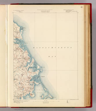Massachusetts. Duxbury sheet. Preliminary edition subject to corrections. U.S. Geological Survey, J.W. Powell, Director. State of Massachusetts ... commissioners. Henry Gannett, Chief Geographer. Triangulation by the U.S. Coast and Geodetic Survey and Borden Survey. Topography of the coast by the U.S. Coast and Geodetic Survey. Topography by W.J. Grambs. Sumner H. Bodfish, topographer in charge. Surveyed in 1885. Forbes Co., Boston & N.Y. (1890)