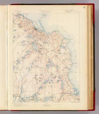 45. Plymouth sheet. / Geological Survey (U.S.); Massachusetts. Topographical Survey Commission / 1890