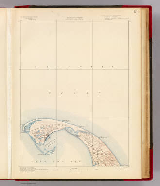 Massachusetts. Provincetown sheet. Preliminary edition subject to corrections. U.S. Geological Survey, J.W. Powell, Director. State of Massachusetts ... commissioners. Henry Gannett, Chief Geographer. Marcus Baker, geographer in charge. Triangulation by the U.S. Coast and Geodetic and Borden surveys. Coast line by the U.S. Coast Survey. Topography by the U.S. Geological Survey and U.S. Coast Survey. Surveyed in 1887. Forbes Co., Boston & N.Y. (1890)