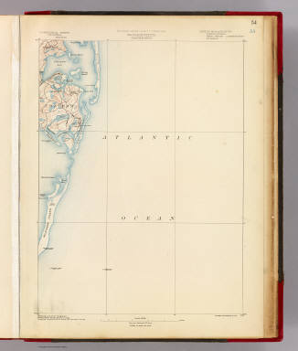 Massachusetts. Chatham sheet. Preliminary edition subject to corrections. U.S. Geological Survey, J.W. Powell, Director. State of Massachusetts ... commissioners. Henry Gannett, Chief Geographer. Marcus Baker, geographer in charge. Compiled chiefly from U.S. Coast and Geodetic Survey. Forbes Co., Boston & N.Y. (1890)