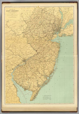 N.J. state map. / Geological Survey of New Jersey; Cook, George Hammell, 1818-1889; Vermeule, C. C. (Cornelius Clarkson), 1858-1950 / 1888