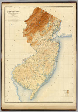 N.J. relief map. / Geological Survey of New Jersey; Cook, George ...