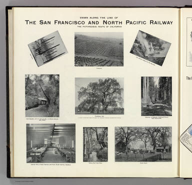 Views along the line of the San Francisco and North Pacific Railway. The picturesque route of California. (Published by Reynolds & Proctor, Santa Rosa, Cal., 1898)