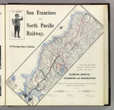 San Francisco and North Pacific Railway. The picturesque route of California. (Published by Reynolds & Proctor, Santa Rosa, Cal., 1898)