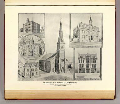 Church of the Immaculate Conception, Waterbury. / Caughey, R.; (D.H. Hurd & Co.) / 1893