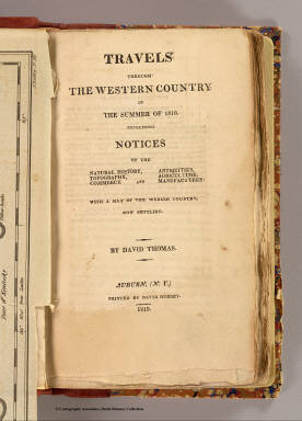 Title Page: Travels through the western county. / Thomas, David, 1776-1859 / 1819
