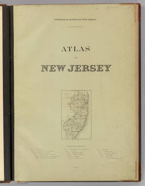 Title Page: Atlas New Jersey. / Geological Survey of New Jersey / 1888