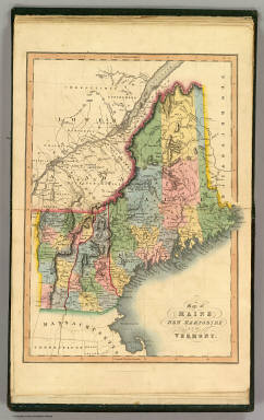 Map of Maine, New Hampshire and Vermont. London, published April 15, 1832 by I.T. Hinton & Simpkin & Marshall. Engraved & printed by Fenner Sears & Co. (1832)