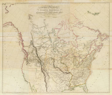 (Composite of) A map exhibiting all the new discoveries in the interior parts of North America, inscribed by permission to the Honorable Governor and Company of Adventurers of England trading into Hudson Bay, in testimony of their liberal communications to their most obedient and very humble servant, A. Arrowsmith, Hydrographer to H.R.H. the Prince of Wales. No. 10 Soho Square. January 1st, 1795 -- additions to 1811, 1818.