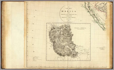 A new map of Mexico and adjacent provinces compiled from original documents by A. Arrowsmith, 1810. (Sheet 1). (with) Valley of Mexico, from Mr. Humboldt's map. London, Published 5th October 1810 by A. Arrowsmith, 10 Soho Squ(ar)e, Hydrographer to H.R.H. the Prince of Wales. Engraved by E. Jones.
