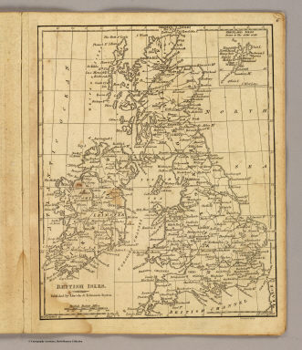 British Isles. (with) Shetland Isles. Withington sculp. (Published by Lincoln & Edmands, 1819)