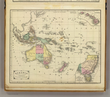 Oceania. Designed to accompany Cornell's High school geography. (with) Sandwich Islands. (with) Van Diemens Land and south eastern Australia. Entered ... 1856, by S.S. Cornell ... Southern District of New York. New York: D. Appleton & Co., 443 & 445 Broadway. (1864)